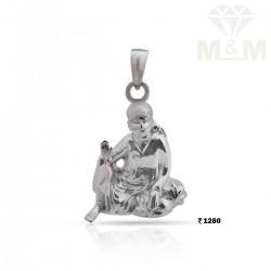 Luxury Silver Sai Baba Pendant