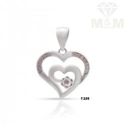 Sumptuous Silver Heart pendant