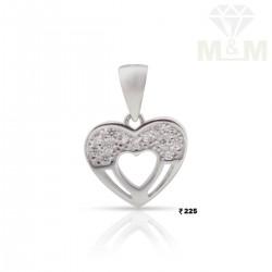Splendid Silver Heart Pendant