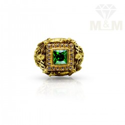 Graceful Gold Emerald Stone...