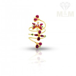 Vivacious Gold Fancy Stone Ring