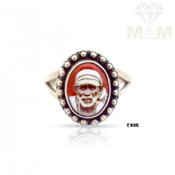 Phenomenal Silver Sai Baba Ring