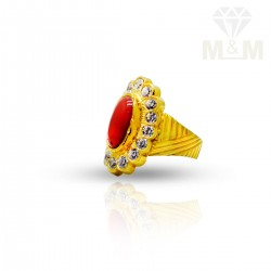 Famous Gold Fancy Coral Ring