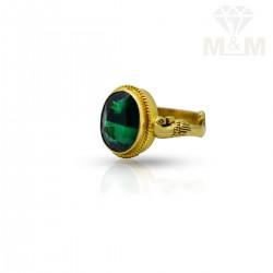 Classy Gold Emerald Stone Ring