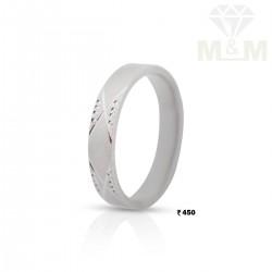 Literary Silver Wedding Ring