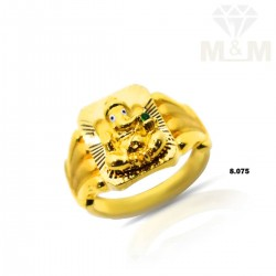 Great Gold Ganesha Ring