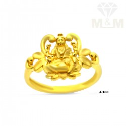 Exemplary Gold Lakshmi Ring