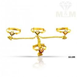Handsome Gold Fancy Set Ring