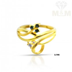 Elegant Gold Casting Ring