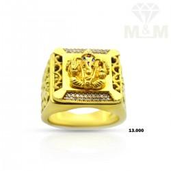 Aesthetic Gold Ganesha Ring