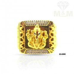 Aesthetic Gold Ganesha Ring