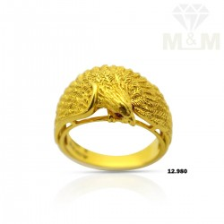 Cute Gold Casting Eagle Ring