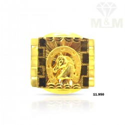 Unbelievable Gold Horse Ring