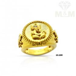 Wonder work Gold Ganesha Ring