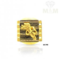Majestic Gold Lion Ring