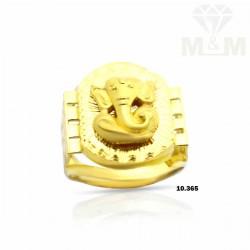 Lambent Gold Ganesha Ring