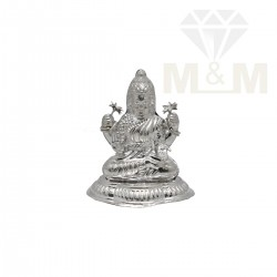 Graceful Silver Lakshmi Statue
