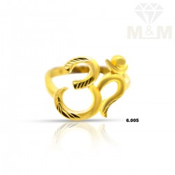 Awesome Gold Casting Om Ring