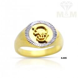 Vibrant Gold Casting Om Ring