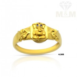 Vivacious Gold Ganesha Ring