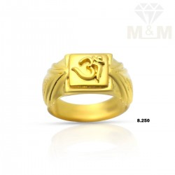 Sweetest Gold Casting Om Ring