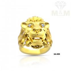 Sparkling Gold Casting Lion...