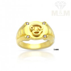 Fortunate Gold Casting Om Ring