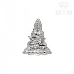 Mannerly Silver Lakshmi Statue