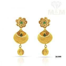 Enormous Gold Fancy Earring