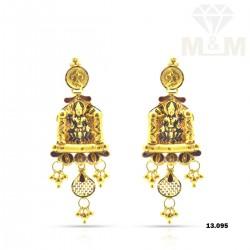 Divine Gold Lakshmi Earring