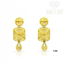 Luxuriant Gold Fancy Earring