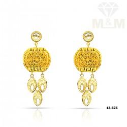 Flamboyant Gold Fancy Earring