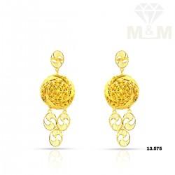 Discernible Gold Fancy Earring