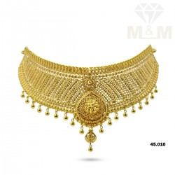 Flamboyant Gold Fancy Necklace