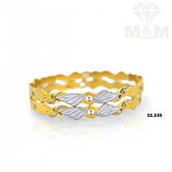 Aesthetic Gold Rhodium Bangle