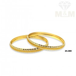 Adorable Gold Rhodium Bangle