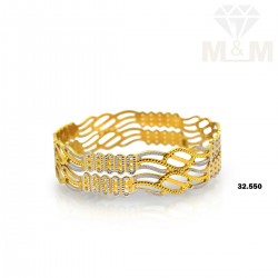 Aesthetic Gold Rhodium Bangle