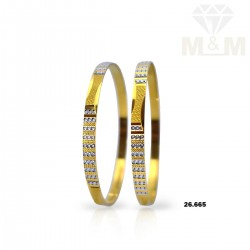 Amazing Gold Rhodium Bangle