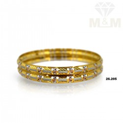 Attractive Gold Rhodium Bangle