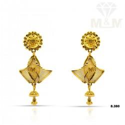 Vibrant Gold Fancy Earring