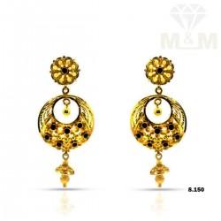 Sparkling Gold Fancy Earring