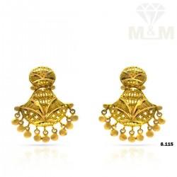 Fascinating Gold Fancy Earring