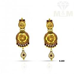 Unparalleled Gold Fancy Earring