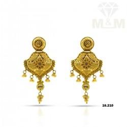 Haunting Gold Fancy Earring