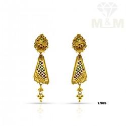 Handsome Gold Fancy Earring