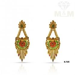 Enchanting Gold Fancy Earring