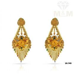 Aesthetic Gold Fancy Earring