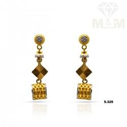 Personable Gold Fancy Earring