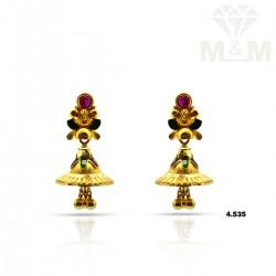 Unique Gold Fancy Earring