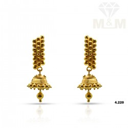 Alluring Gold Fancy Earring